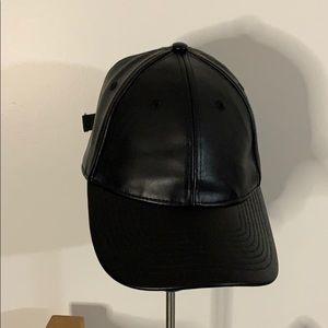 Faux leather H&M hat